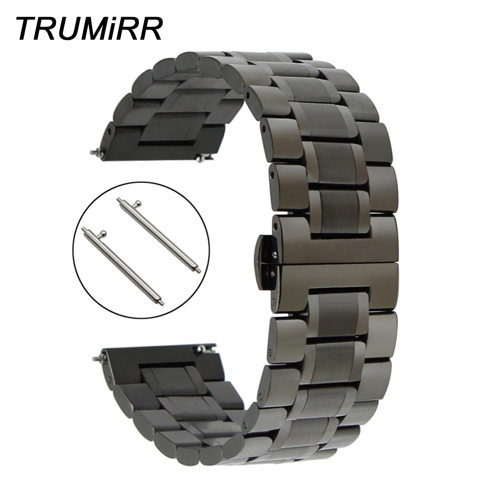 Quick Release Stainless Steel Watch Band +Tool for Diesel Men Women Butterfly Buckle Wrist Strap Link Bracelet Black Grey Silver stainless steel 1 4 connecting adapter for camera quick sling silver grey