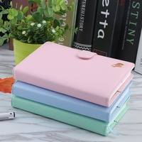 Faux Leather Hardcover Diary Notebook Cute Horse Macaron Color Creative Trends Note Book Office School Supplies