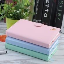 Faux Leather Kemény borítékú diary Notebook Aranyos ló Macaron Színes Kreatív trendek Jegyzet Könyv Office iskolai kellékek Születésnapi ajándék