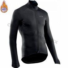все цены на NW Winter Mens Cycling Jersey 2019 pro team Long Sleeve Thermal Fleece Jerseys MTB Bike Clothing Maillot Ropa Ciclismo Hombre онлайн
