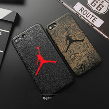 Hot jump Jordan 3D Emboss Soft silicon cover case for iphone 5 5S SE 6 6Plus S 7 7 plus 8 8Plus X XS XR MAX fly man phone cases(China)