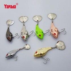 YAPADA VIB 301 Tycoon 10g/15g/20g/25g triple crochet + paillettes rotatives 41mm/47mm/52mm/55mm multicolore métal VIB leurres de pêche