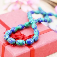 8*12mm Prevalent Blue Wintersweet Turkey stone Rice loose DIY beads Jewelry crafts making design 15