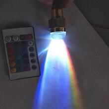 Luz LED subacuática para yate, 12V, con mando a distancia, latón, estanque, piscina, RGB, lámpara, accesorios para barcos