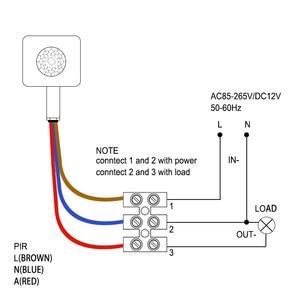 Image 5 - Capteur de mouvement infrarouge PIR, 10MM, 220V, haute qualité, réglage du Mode rotatif à 160 degrés pour éclairage LED extérieur