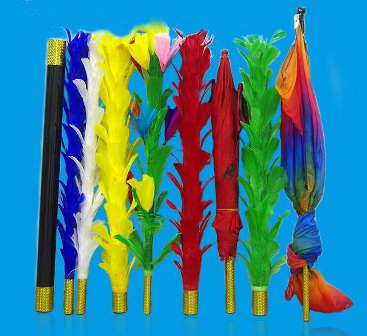 Variations de bâtons de plumes-tours de magie de scène, gros plan tours de magie, apprenti magicien illusion, tours de magie professionnels