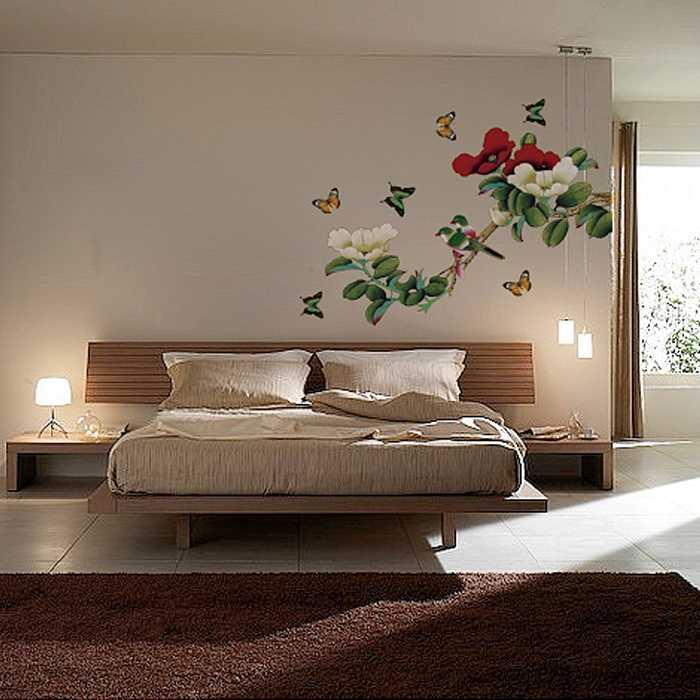 Гелевая наклейка Сладкая Романтика цветы пиона с серебряной ложкой в рот спальня