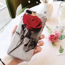 Super Fashion Beautiful Red Roses Cover Soft TPU Silicone Case sFor Apple iPhone 6 6S 6 Plus 7 7 Plus iphne Funda Coque i6 i 7