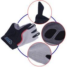 Leadbike Bicycle Gloves Half Finger Anti-slip LED Lightning Gloves Mountain Road Bike Sports Cycling LED Glow Gloves hot sell