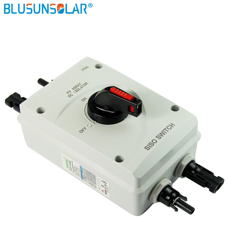 10 pcs/lot High performance 4 Pole 1000V DC 32Amp Solar Electrical DC Isolator Switch with 2 pairs MC4 Connectors цена