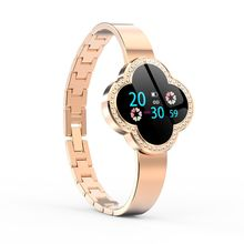 цена Four-leaf clover smart bracelet ladies jewelry decorative Smart Watch heart rate blood pressure Monitor blood oxygen detector онлайн в 2017 году