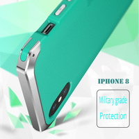 Ginmic For Apple Iphone 8 Case Cover Shockproof Metal Plastic Hybrid Armor Phone Cover Coque For