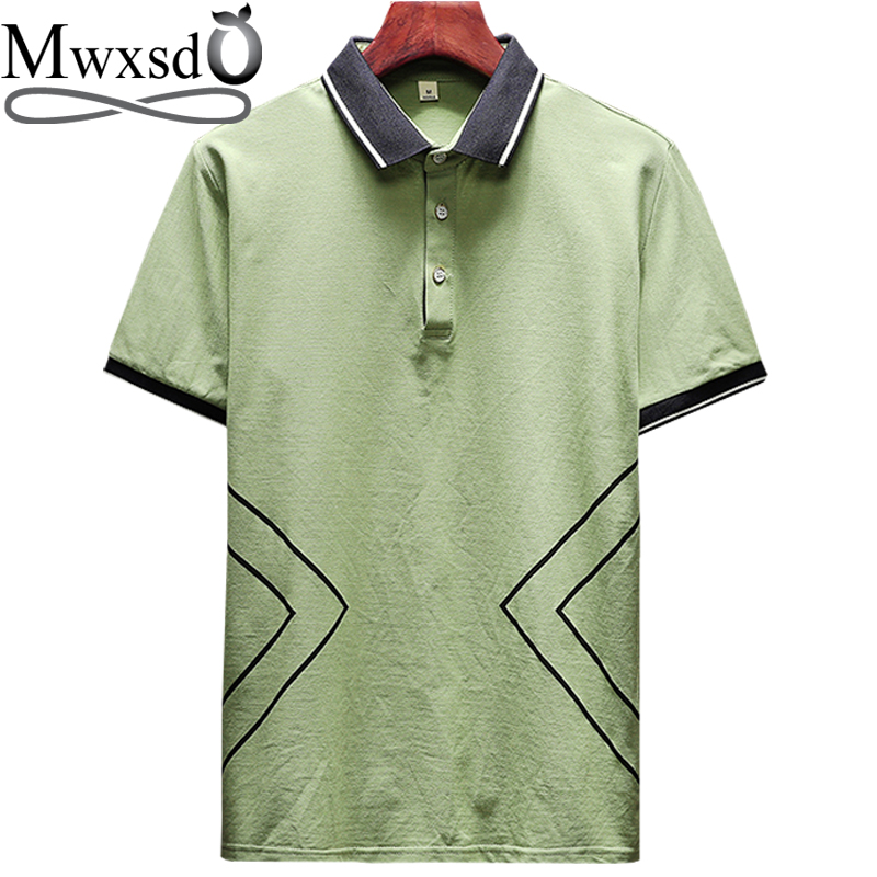 Mwxsd brand Summer Casual Men solid   polo   shirt Men's slim fit cotton   Polo   shirt breathable male   polo   shirt