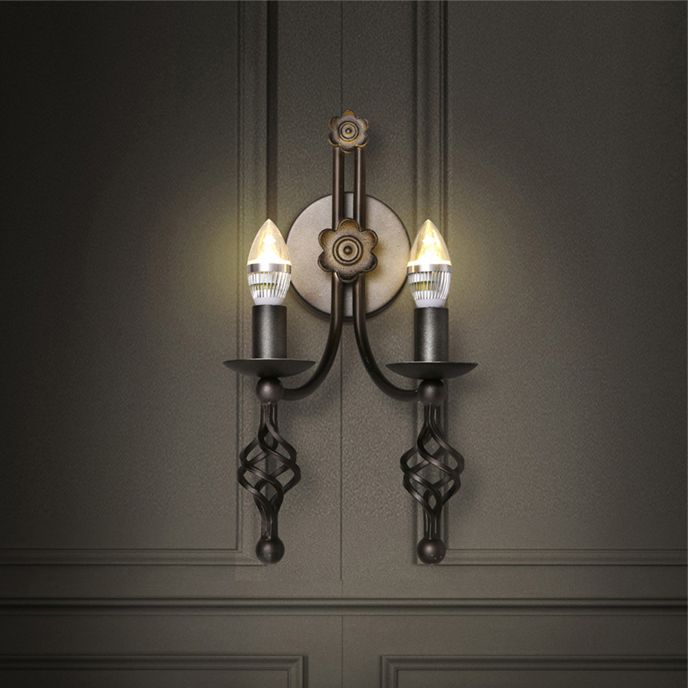 led e14 Loft Iron Candle LED Lamp LED Light Wall lamp Wall Light Wall Sconce For Bar Store Foyer Bedroom Corridor Lobby led e14 american iron fabric led lamp led light wall lamp wall light for bar store foyer bedroom corridor lobby