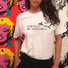 2019 Summer Ulzzang Mother Of Dragons Dracarys T Shirt Women Harajuku Vintage Aesthetic Top
