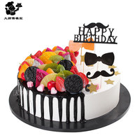 1pc Birthday cakes model simulation model fruit mousse cakes display window samples fake cake artificial cake decorations