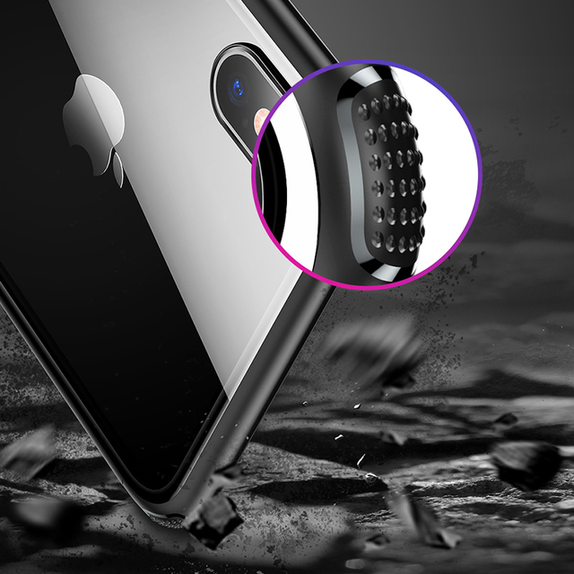 Anti-Knock Back Tempered Glass Case – Apple iPhone