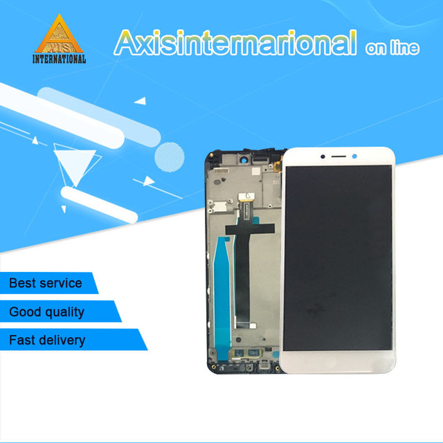 """Original Axisinternational For 5.0"""" Xiaomi Redmi 4X  LCD screen display+touch digitizer with frame black /whitefree shipping"""