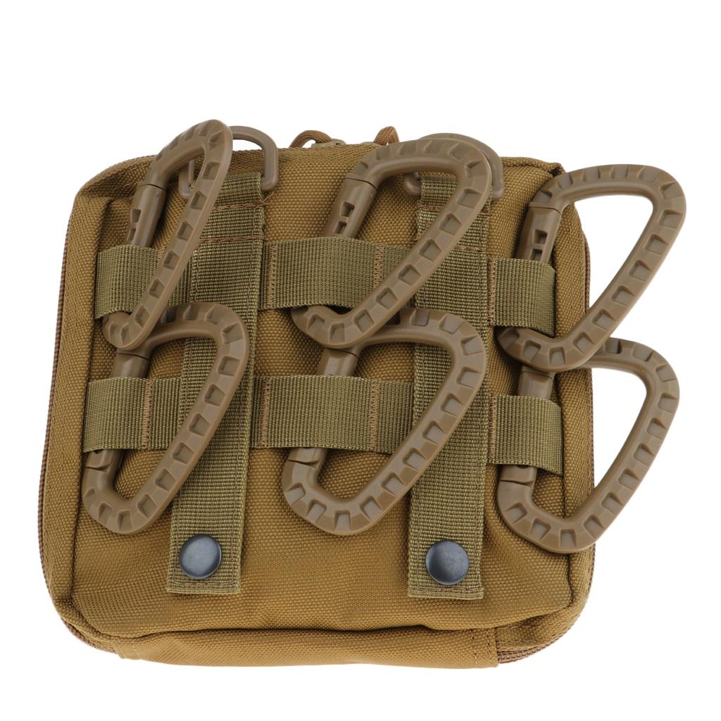 Image 5 - 6Pcs Tactical D Shape Carabiner Keychain Carabina Karabiner Clip Plastic Cadet Hiking Camping Climbing Accessories-in Climbing Accessories from Sports & Entertainment