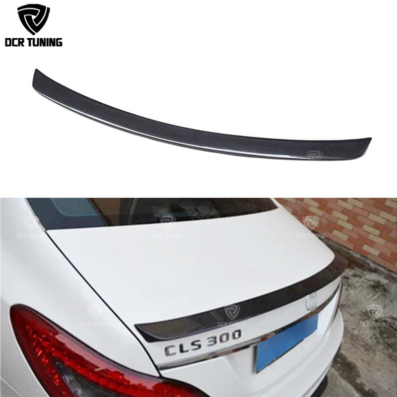 For Mercedes CLS Spoiler Cls Class W218 Carbon Fiber Rear Trunk Spoiler CLS 350 550 500 cls63 spoiler AMG Style Wing 2011 - UP