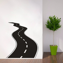 Road Wall Decal Vinyl Sticker Tire Tracks Art Highway Way Garage Murals New Design Style Wallpaper AY1192