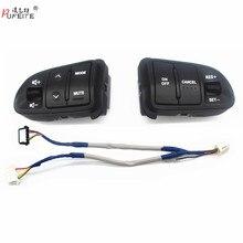 PUFEITE botones de Control de Audio para volante de coche, multifunción, para Kia sportage, con luz trasera, carga de coche