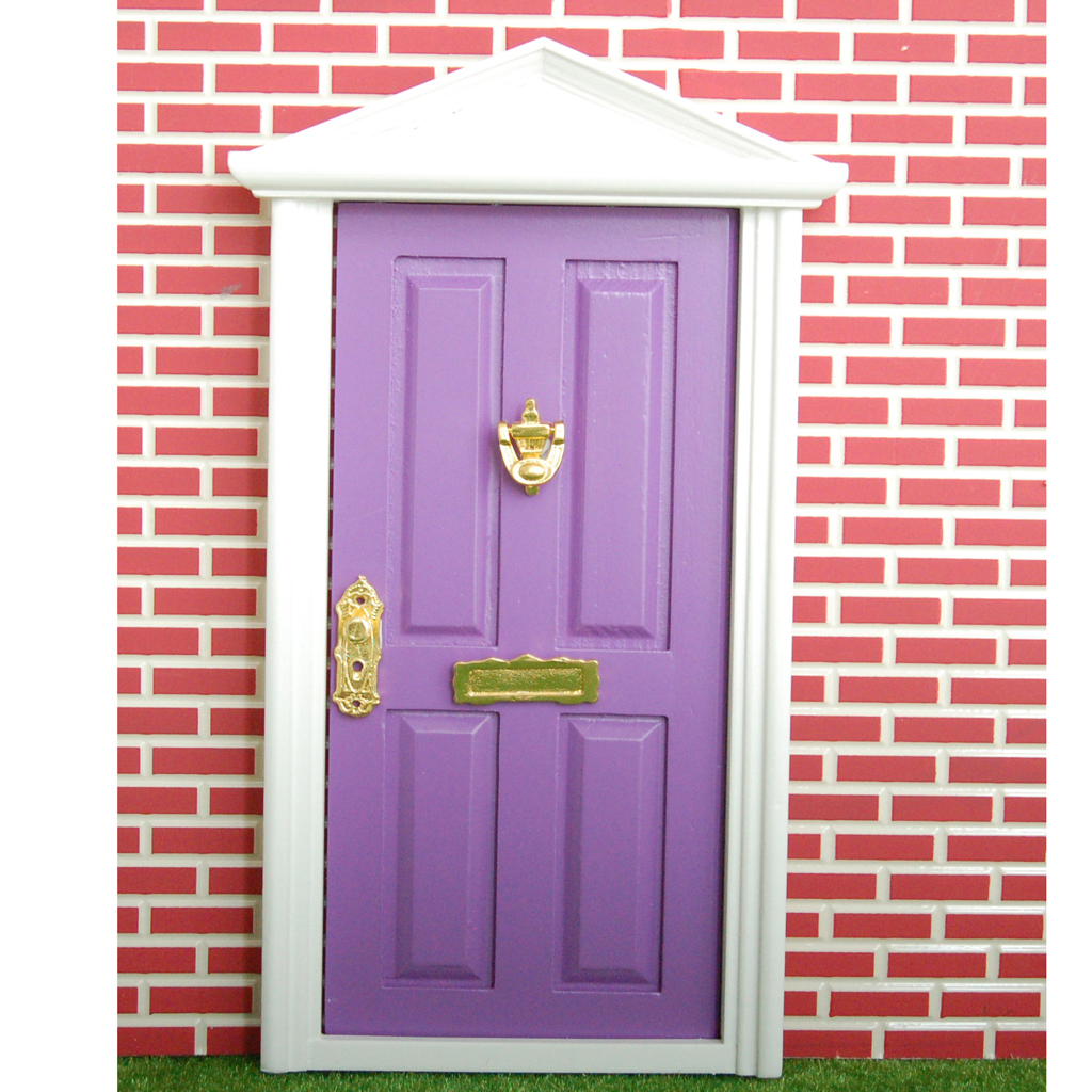 Online Shop 1 Set Lovely DIY Craft Dollhouse Miniature Furniture Purple Great Accessory Wooden Door 4-Panel Exterior Steepletop with Key | Aliexpress Mobile  sc 1 st  AliExpress.com & Online Shop 1 Set Lovely DIY Craft Dollhouse Miniature Furniture ... pezcame.com