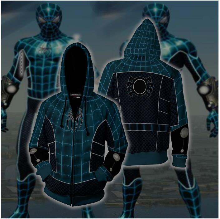 Spider-Man Fear Itself Cosplay PS4 Zip Up Hoodie Jacket Sweatshirts Tracksuit Casual hooded clothing