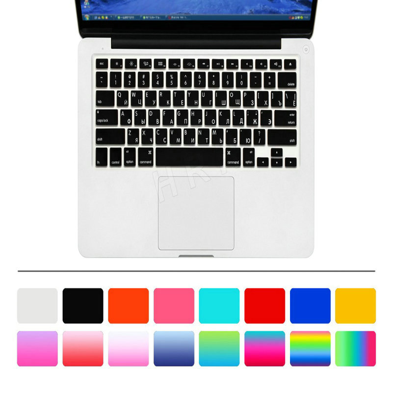 US Russian Keyboard Stickers Covers 2pcs Letters Film