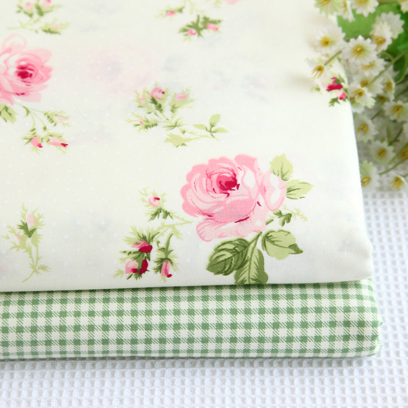 Fat Quarter Rose Sweet Garden Flower Fairy Quilting Sewing Cotton Fabric