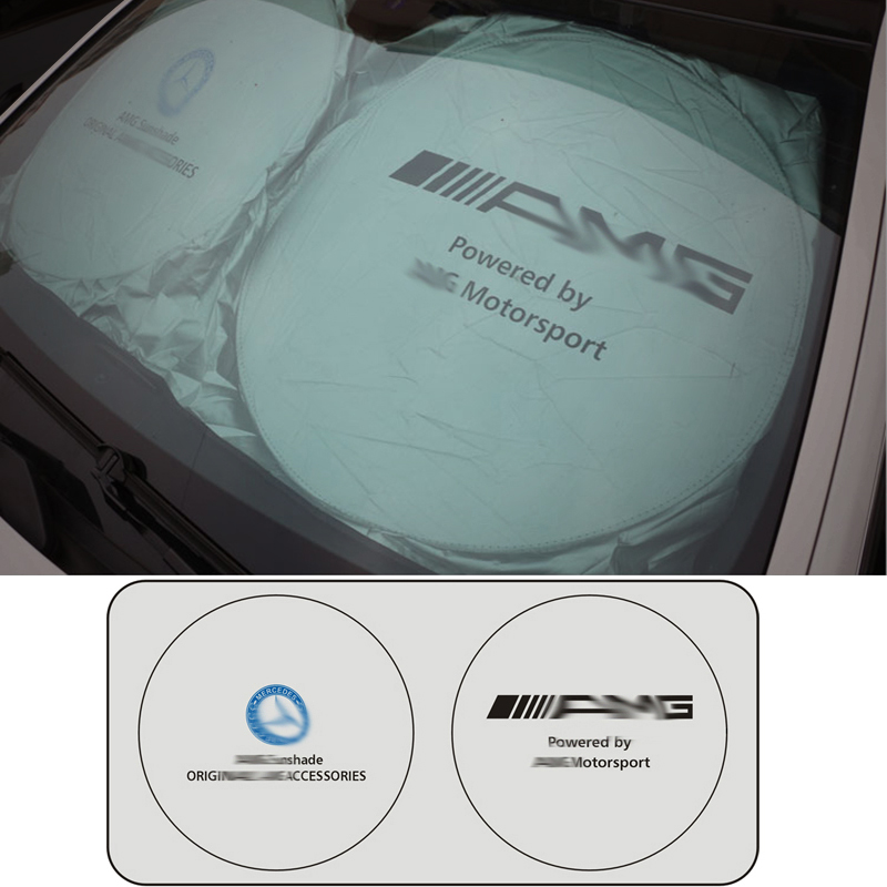 1pcs Car Windshield Cover Sun Automobile Sunshade for Mercedes benz Windshield Visor Cover Summer Front Window Windscreen in Sun Visors from Automobiles Motorcycles