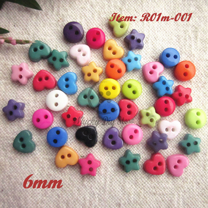 10pcs mixed wood round square star buttons lots craft//sewing U pick