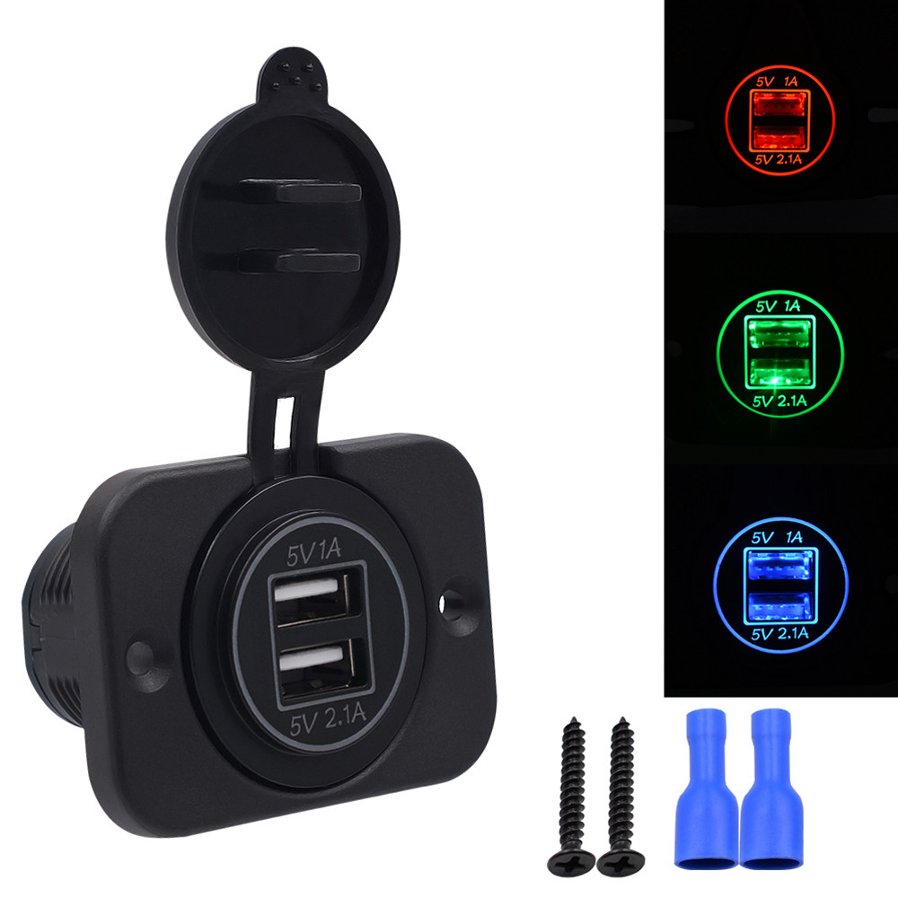 2017 Hot Car Usb Socket 12 24V 3 1A Motorcycle Car Dual USB Power Charger Port