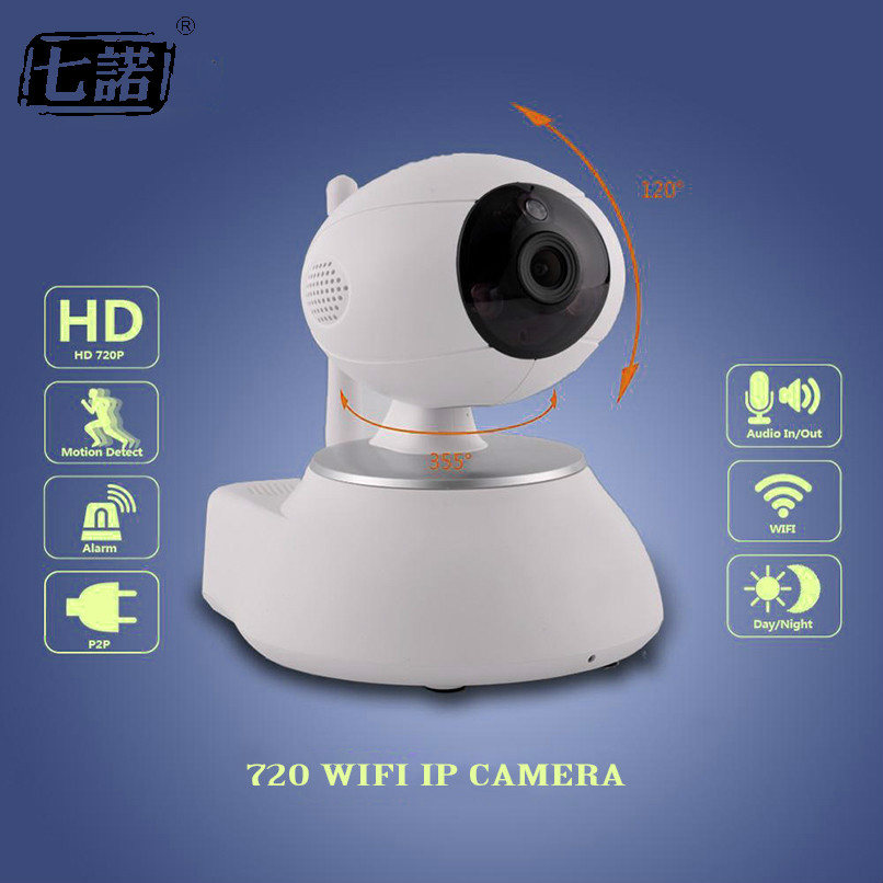 Seven Promise Wifi IP Camera wifi 720P Night Vision Wireless MINI P2P CCTV Camera Home Security Onvif SD Card Indoor Home Cam 720p mini wifi ip camera wireless webcam home security surveillance camera p2p hd wifi cctv camera night vision support sd card