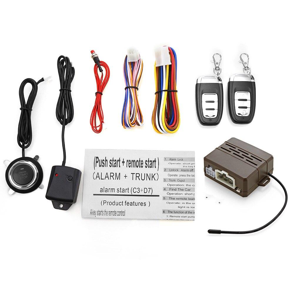 D7 système d'alarme de voiture universel alarme de sécurité système antivol de voiture verrouillage Central avec télécommande interrupteur verrouillage Vibration