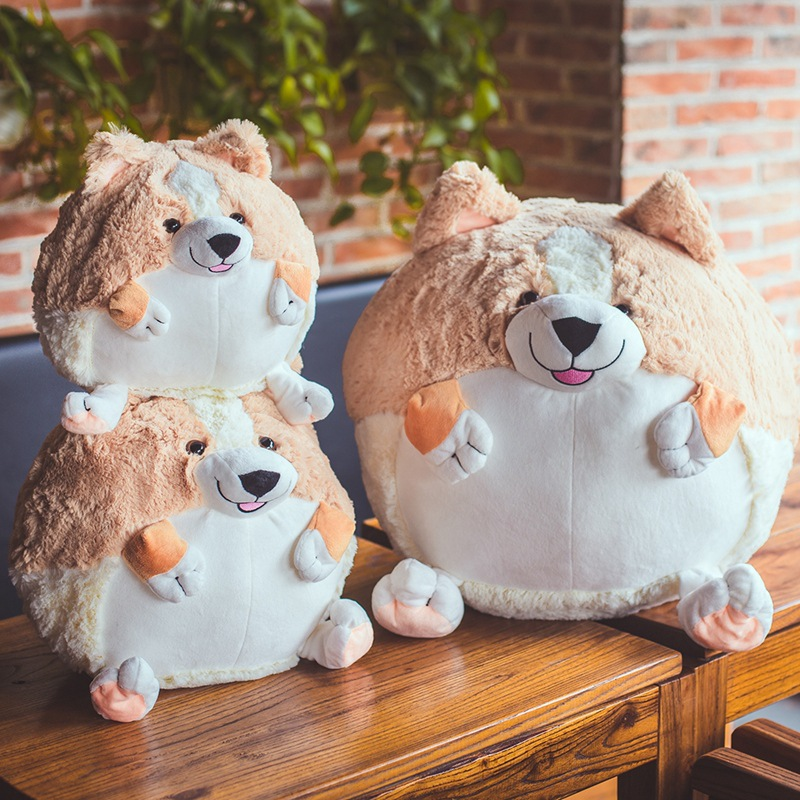 20/30/50cm Cute Short Legs Spherical Corgi Dog Plush Toys Staffed Round Corgi Dog Dolls Kids Love Doll Birthday Gift Girls Gift