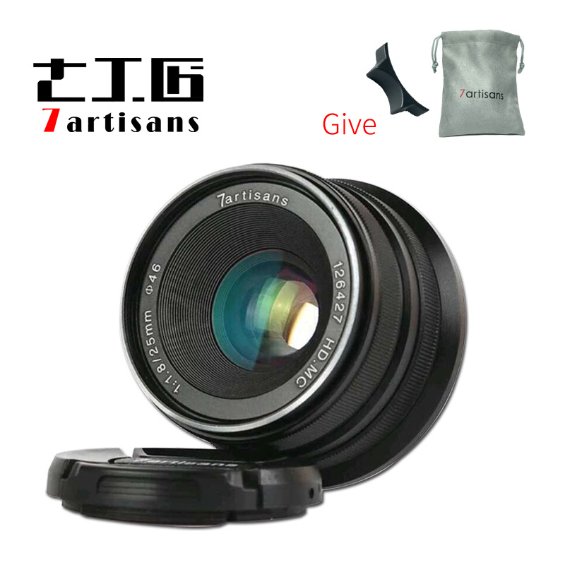 7 artesanos 25mm f1.8 Prime Lens a micro-sola serie para Sony e montaje micro 4/3 o Fiji -XF montaje o Canon M de montaje micro-cámaras