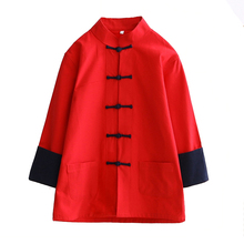Spring Autumn Kids Boys Cotton Jacket Chinese Child Children Kung Fu Wu Shu Coat Vintage Button Baby Long Sleeve Outwear