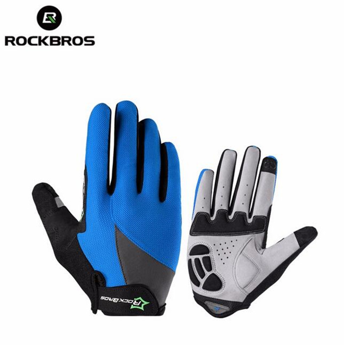 RockBros Full Finger Cycling font b Gloves b font Gel Long Texting Touchscreen font b Gloves