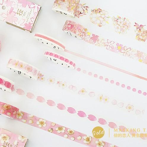 Pink Sukra Flowers Animals Glitter Washi Tape Adhesive Tape DIY Scrapbooking Sticker Label Masking Tape Japanese Stationery cute kawaii flowers japanese washi tape adhesive tape diy decoration planner scrapbook sticker label masking tape stationery