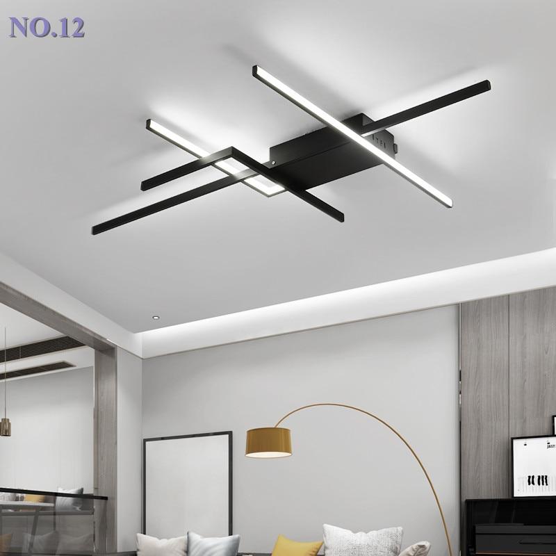 Lustre plafond moderne à LEDs pour salon chambre à manger salle d'étude en aluminium led Lustre bricolage Lustre luminaires