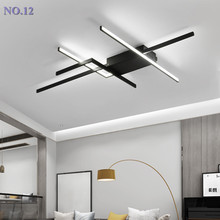 DIY Современные светодиодные потолочные лампы для гостиной, спальни, lustre de plafond, современный светильник, черный светодиодный потолочный светильник