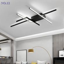 Modern led tavan avize oturma odası yatak odası için yemek çalışma odası alüminyum led parlaklık DIY avize lamba armatürleri