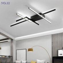 Moderno DIY LED luces de techo para vivir habitación lustre de plafond moderne luminaria plafonnier negro lámpara de techo LED