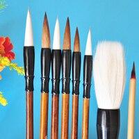 8 unids/pack Chino Caligrafía Comadreja Cepillo de Pelo Cepillo de pintura Acuarela Pincel Materiales de Arte Estacionaria