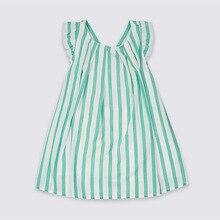 Little Maven New Summer Kids Clothing Sweet Sleeveless Cross Striped Printed Sands O-neck Woven  1-6yrs Cotton Girls Dresses