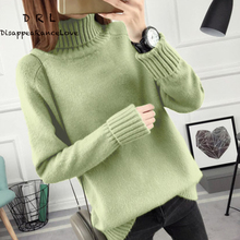 DRL Brand 2017 autumn and winter Loose turtleneck pullover sweater female  long-sleeve all-match basic thickening