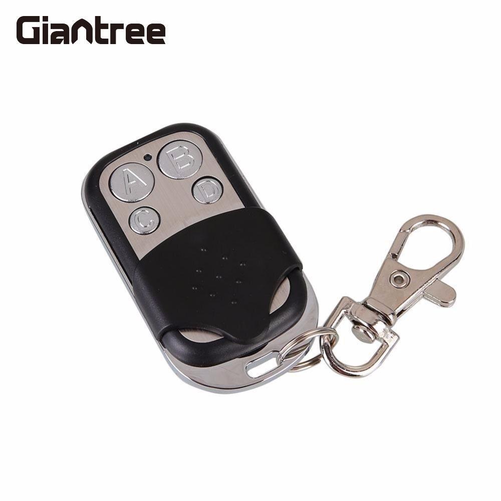 Giantree 433MHz Garage Door Remote Control 4 Channel Garage Gate Door Cloning Remote Control Car Vehicle Key Fob Control Keypad
