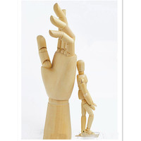 Cute Cartoon Joint Wooden Hand for Decoration,New Style Jointed Mannequin Hand Wood Doll Collectible Toys