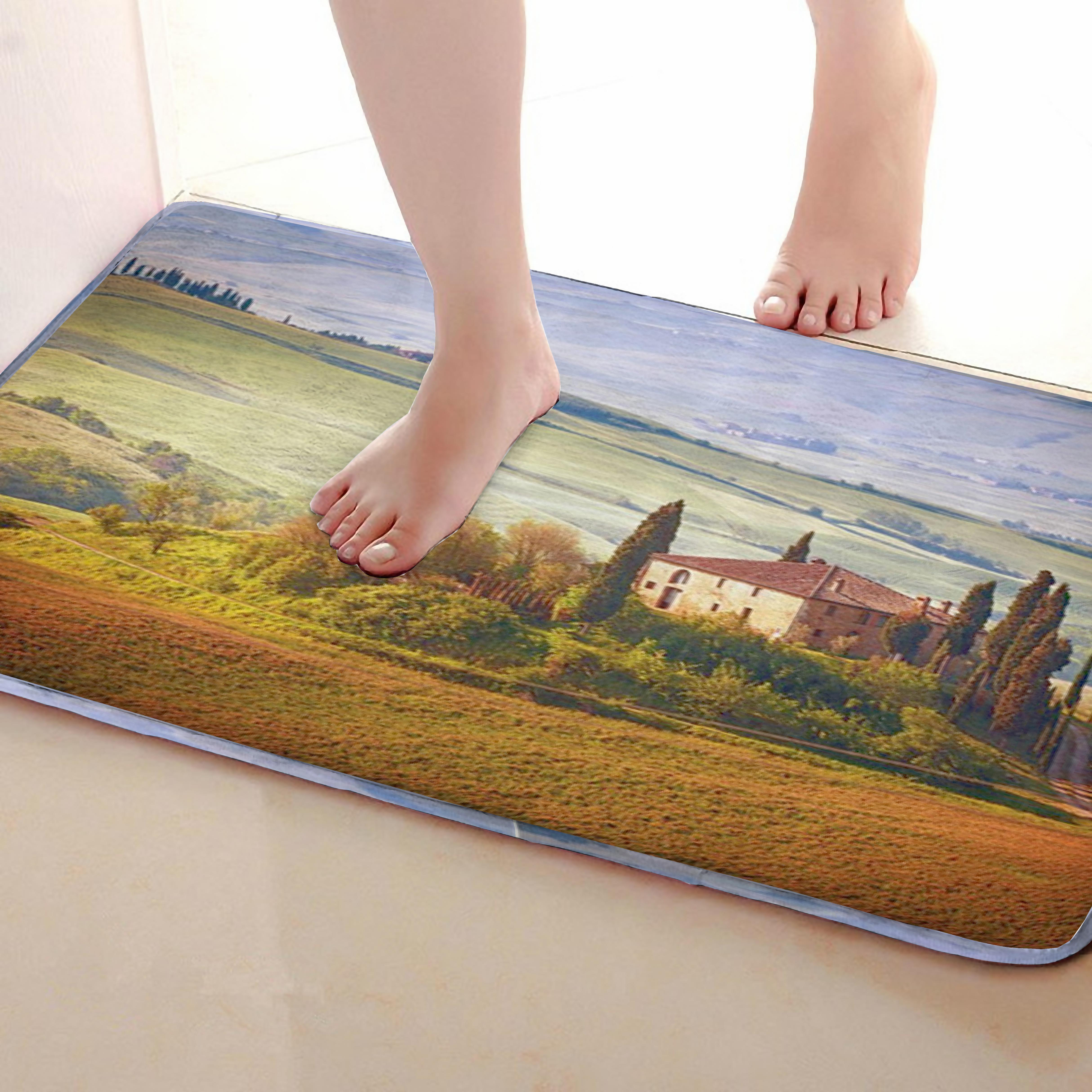 House Style Bathroom Mat,Funny Anti Skid Bath Mat,Shower Curtains Accessories,Matching Your Shower Curtain